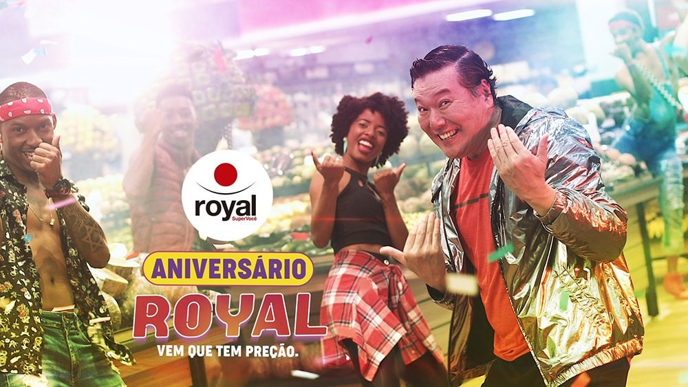 DIFERENCIAL CRIATIVO PRODUZ COMERCIAL DE ANIVERS?üRIO DO ROYAL SUPERMERCADOS